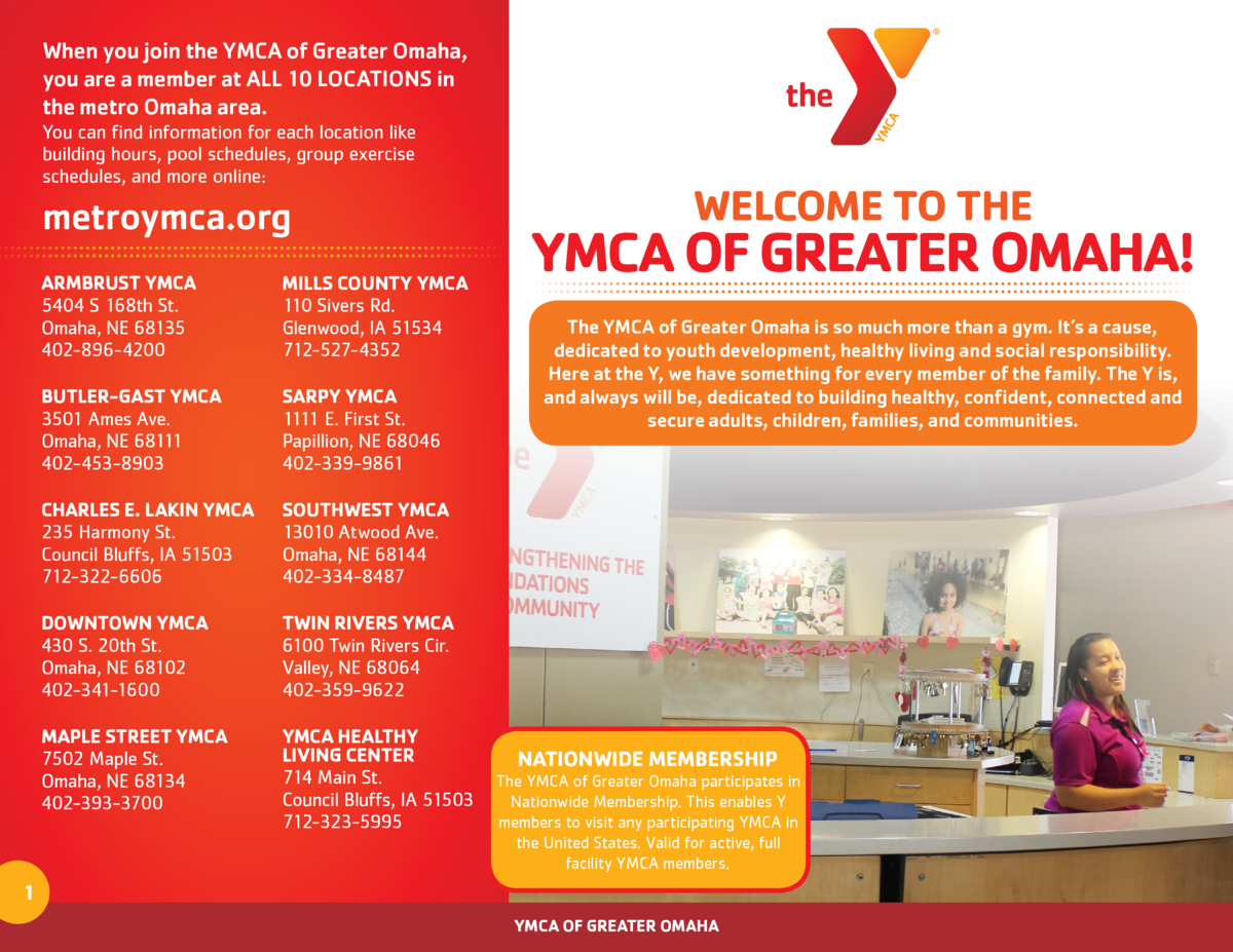 When you join the YMCA of Greater Omaha, you are a member at ALL 10 LOCATIONS in the metro Omaha area. You can find inform...